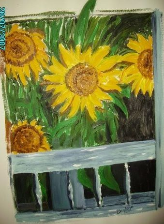 Sunflowers on the Porch